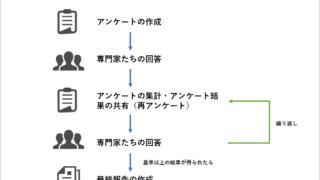 デルファイ法の流れの図
