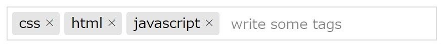 Tagify.jsで作ったタグの画像